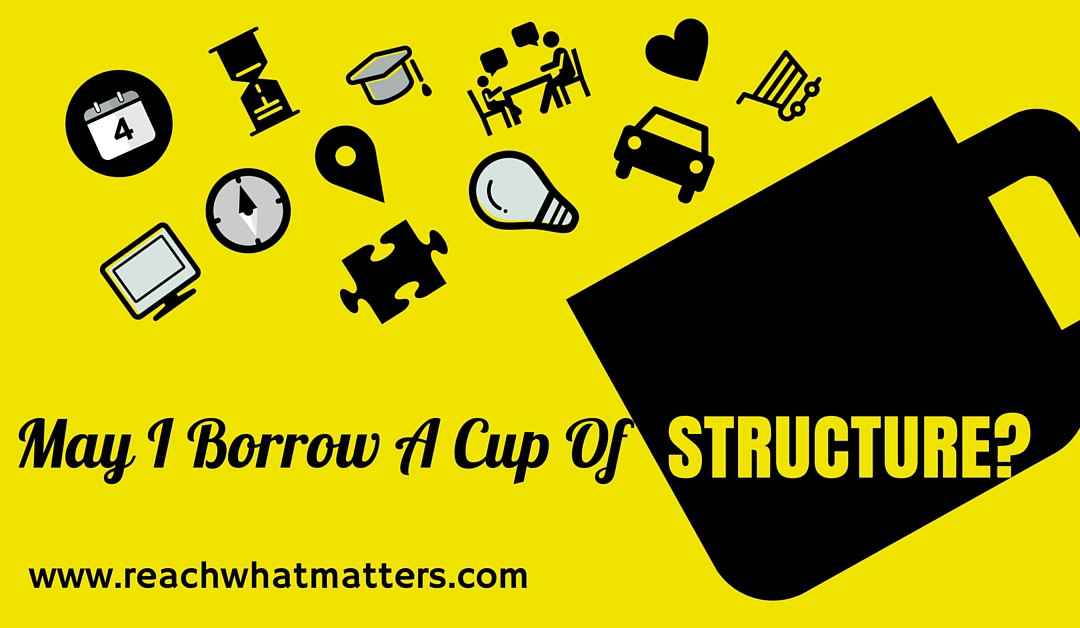 """May I Borrow A Cup of Structure?"""